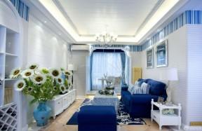 地中海风格家装客厅地毯贴图欣赏