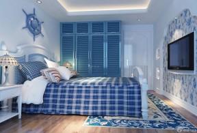 地中海风格主卧室设计地毯贴图欣赏
