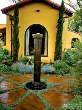 别墅入户玄关庭院景观设计效果图