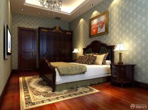 新古典风格卧室床的摆放效果图