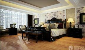 美式风格主卧室布局实景图