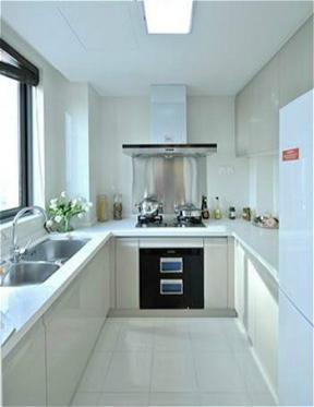简约厨房白色橱柜图片
