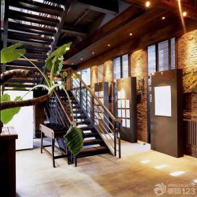 现代欧式风格售楼部二|三折梯设计图片