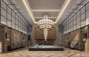 新中式风格售楼处装修设计水晶灯图片