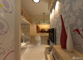 现代风格酒店式公寓装修效果图