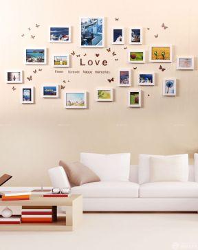 现代简约家装情侣照片墙设计图