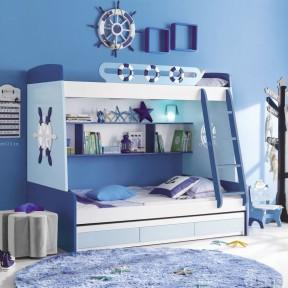 地中海风格儿童房高低床设计图