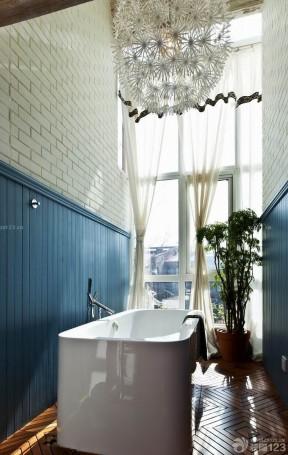 家居浴室窗帘搭配效果图片欣赏