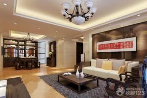新中式风格客厅墙画装修效果图