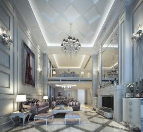欧式室内装潢复式大客厅装修设计效果图
