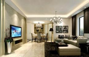 跃层式住宅客厅装修效果图