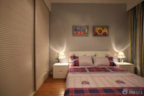 现代简约风格卧室简装效果图