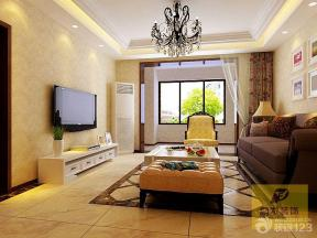 简约风格设计客厅样板间