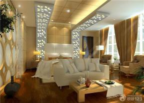 现代简约风格别墅卧室装饰装修图