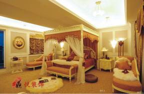 洛可可风格别墅室内设计卧室装修效果图