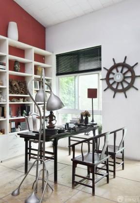 现代风格2014最新家装样板房书房设计图