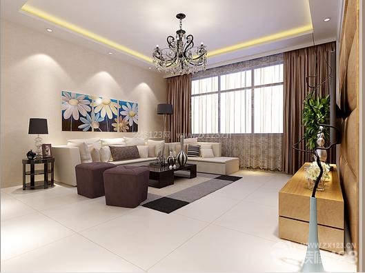 现代客厅两室两厅一厨一卫装修效果图