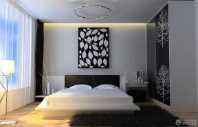 黑白简约风格卧室装修效果图