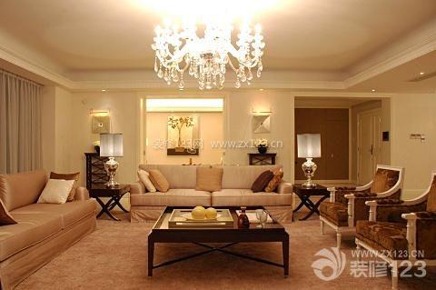 欧式客厅三室两厅两卫装修效果图