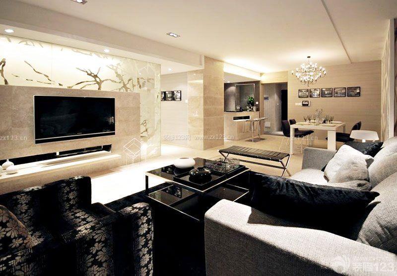 小户型现代简约风格客厅沙发效果图