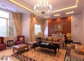 简约欧式客厅装修设计效果图