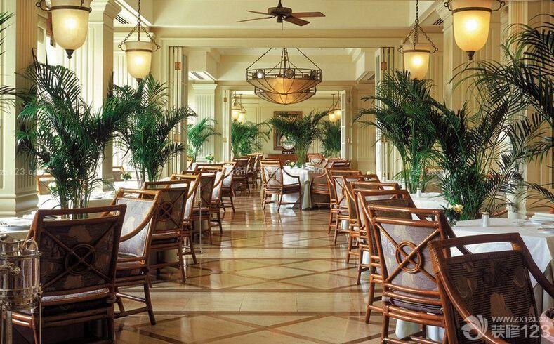 复古风格酒店餐厅设计图