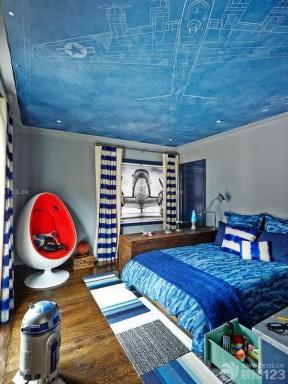 创意儿童房手绘天花板贴图装修效果图