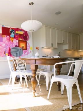 美式厨房抽象装饰画设计效果图片
