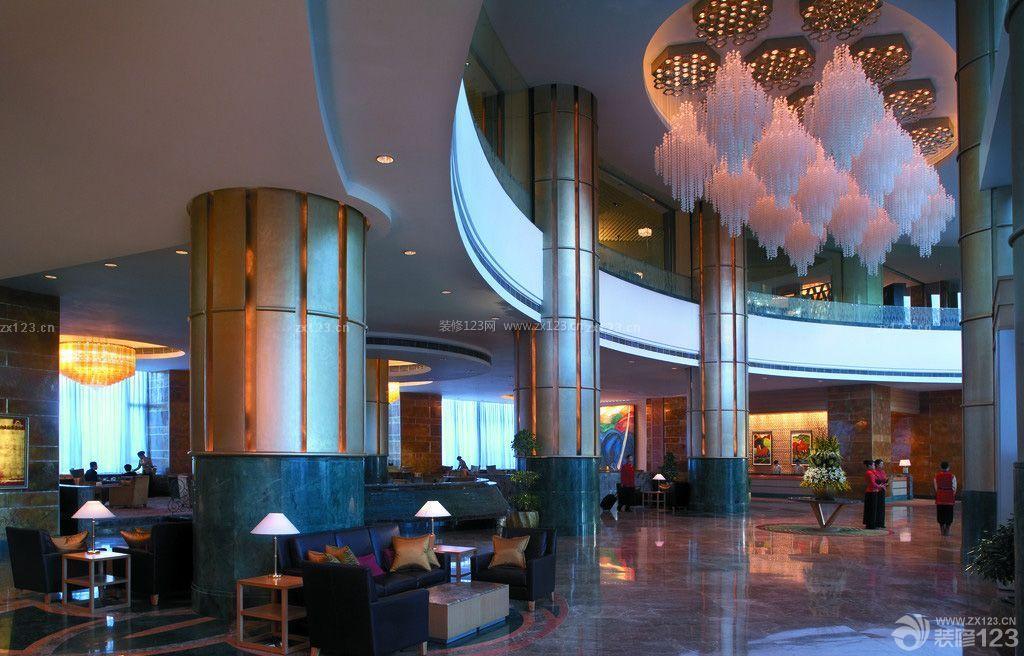最新豪华酒店大厅吊灯装修图