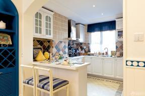地中海装修风格开放式厨房图片
