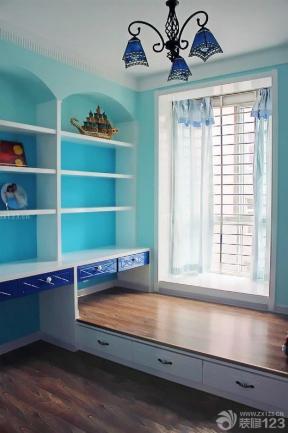 地中海家装书房家具效果图