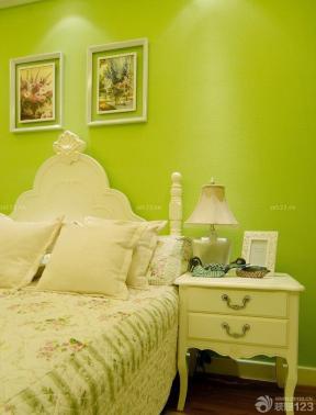 韩式田园风格卧室床头柜设计案例欣赏