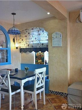 地中海风格设计客餐厅效果图