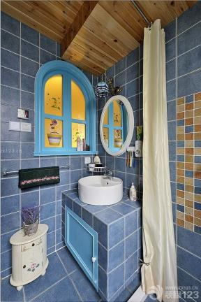 地中海风格设计卫生间洗手盆图片