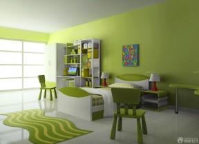 70平米的房子卧室绿色墙面装修效果图片