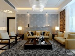 现代简约客厅装修实景图片欣赏