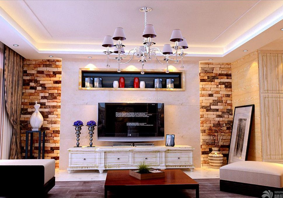 现代混搭家装客厅设计装饰效果图