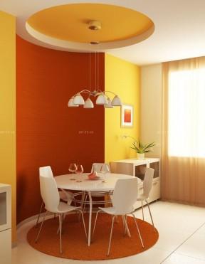 时尚60平米两室两厅圆餐桌装修实景图欣赏