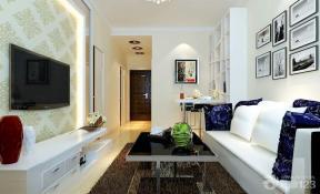 现代简约70小户型客厅装修效果图