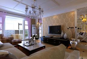 欧式家居客厅装修设计实景图