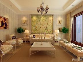 最新欧式风格客厅装修设计效果图