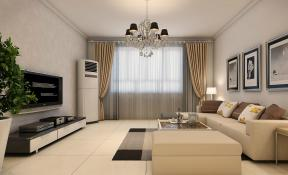 简约风格客厅墙画设计效果图