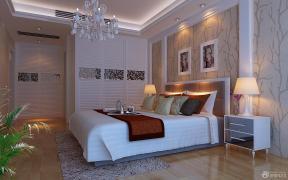 现代简约风格家居卧室床头背景墙装修效果图