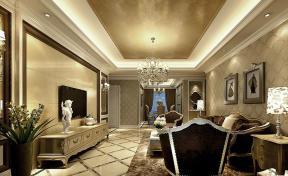 最新古典欧式风格客厅装修效果图欣赏