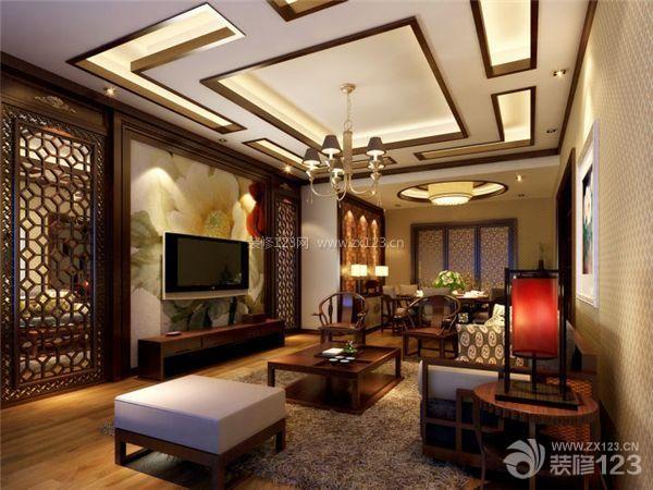 现代简约最新客厅电视背景墙效果图
