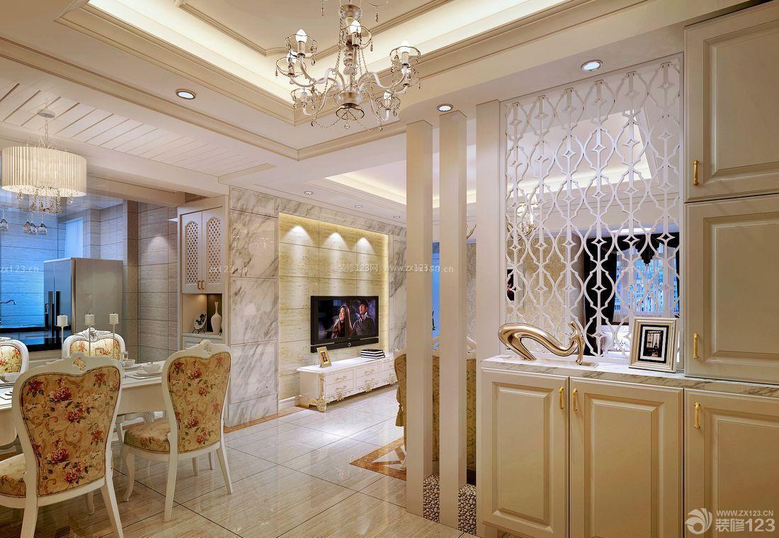 现代客厅鞋柜屏风装修效果图片