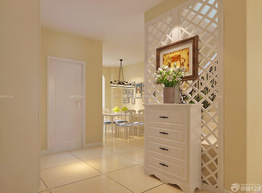 家庭中式鞋柜屏风装修图