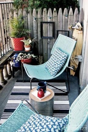 美式乡村小户型景观阳台装潢效果图