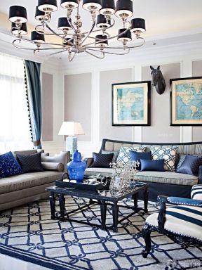 欧式家装150平米客厅吊顶装修设计效果图