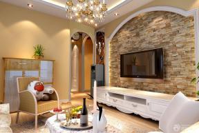 现代欧式家庭客厅电视背景墙效果图
